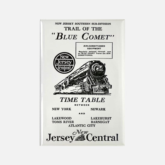 The Blue Comet Rectangle Magnet