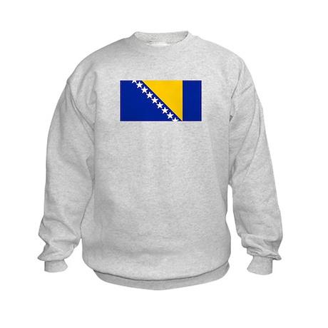 Bosnia and Herzegovina flag Kids Sweatshirt