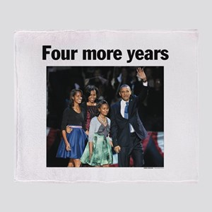 Four More Years: Obama 2012 Throw Blanket
