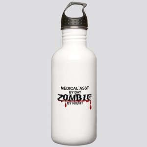 Medical Assistant Zombie Stainless Water Bottle 1.