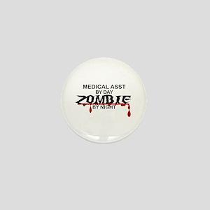Medical Assistant Zombie Mini Button