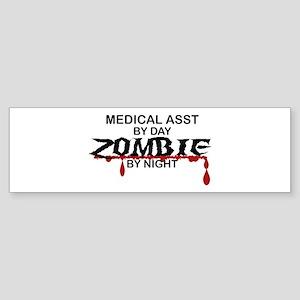 Medical Assistant Zombie Sticker (Bumper)