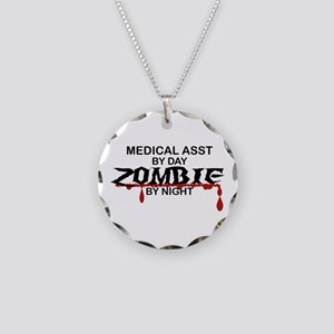 Medical Assistant Zombie Necklace Circle Charm