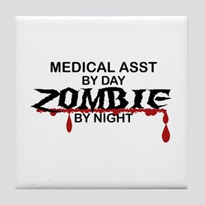 Medical Assistant Zombie Tile Coaster