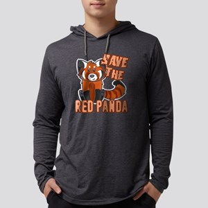 save the red panda t-shirt Mens Hooded Shirt
