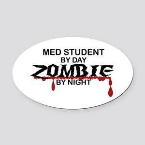Med Student Zombie Oval Car Magnet