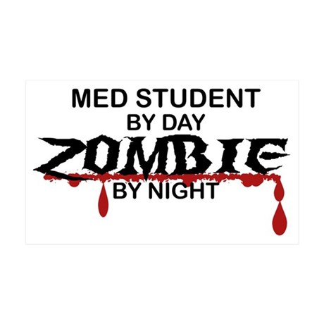 Med Student Zombie 35x21 Wall Decal