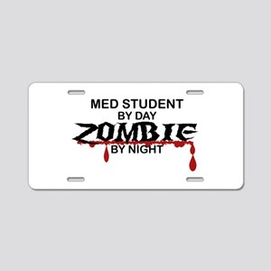 Med Student Zombie Aluminum License Plate
