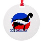 Goat Milk Round Ornament