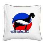 Goat Milk Square Canvas Pillow