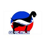 Goat Milk 35x21 Wall Decal