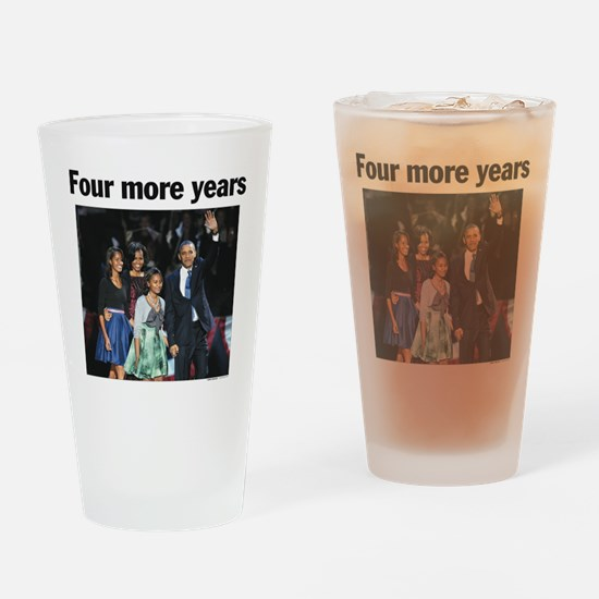 Four Mour Years: Obama 2012 Drinking Glass