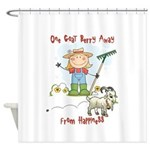 Funny Goat Berries Shower Curtain