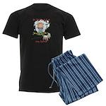 Funny Goat Berries Men's Dark Pajamas