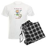 Funny Goat Berries Men's Light Pajamas
