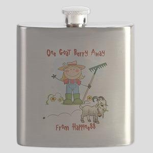Funny Goat Berries Flask