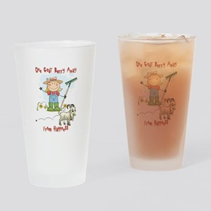 Funny Goat Berries Drinking Glass