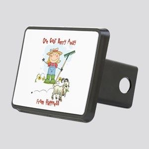 Funny Goat Berries Rectangular Hitch Cover