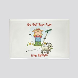 Funny Goat Berries Rectangle Magnet