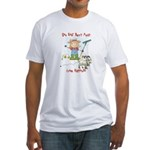 Funny Goat Berries Fitted T-Shirt