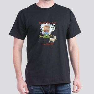 Funny Goat Berries Dark T-Shirt