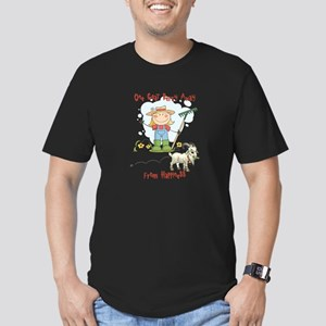 Funny Goat Berries Men's Fitted T-Shirt (dark)