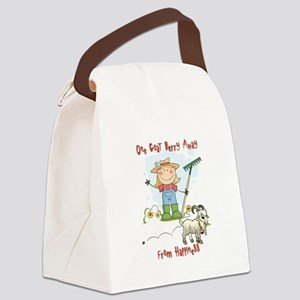 Funny Goat Berries Canvas Lunch Bag