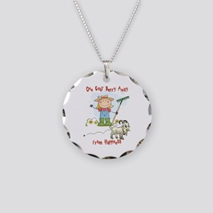 Funny Goat Berries Necklace Circle Charm