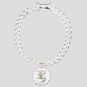 Funny Goat Berries Charm Bracelet, One Charm