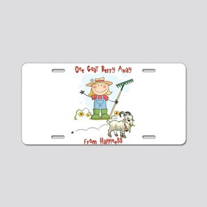 Funny Goat Berries Aluminum License Plate