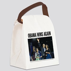 Obama Wins Again Canvas Lunch Bag