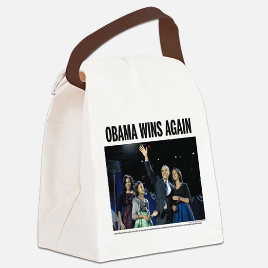 Obama Wins Again Canvas Lunch Bag