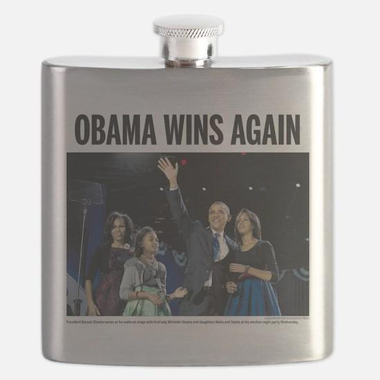 Obama Wins Again Flask