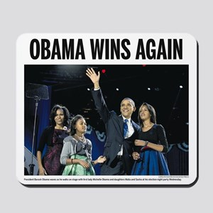Obama Wins Again Mousepad