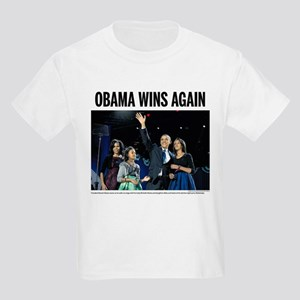 Obama wins again Kids Light T-Shirt