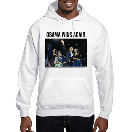 Obama wins again Hooded Sweatshirt
