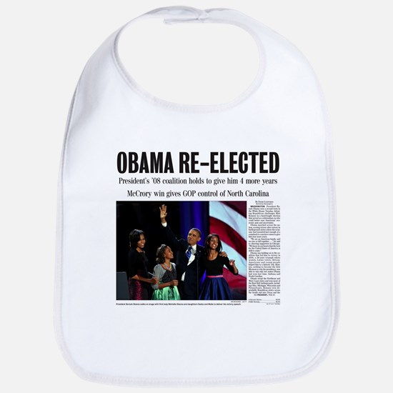 Obama Re-Elected 2012 Bib