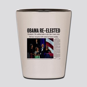 Obama Re-Elected 2012 Shot Glass
