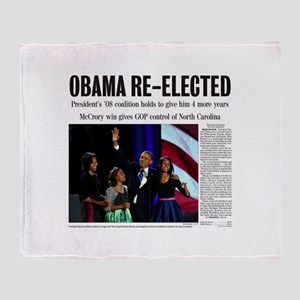 Obama Re-Elected 2012 Throw Blanket