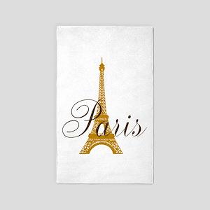 Paris Always (gold) 3'x5' Area Rug