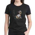 Cute Girl Cartoon Goat Women's Dark T-Shirt