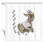 Cute Girl Cartoon Goat Shower Curtain
