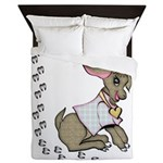 Cute Girl Cartoon Goat Queen Duvet