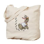 Cute Girl Cartoon Goat Tote Bag