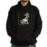 Cute Girl Cartoon Goat Hoodie (dark)