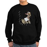 Cute Girl Cartoon Goat Sweatshirt (dark)