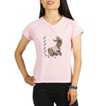 Cute Girl Cartoon Goat Performance Dry T-Shirt