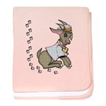 Cute Girl Cartoon Goat baby blanket