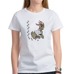 Cute Girl Cartoon Goat Women's T-Shirt