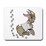 Cute Girl Cartoon Goat Mousepad